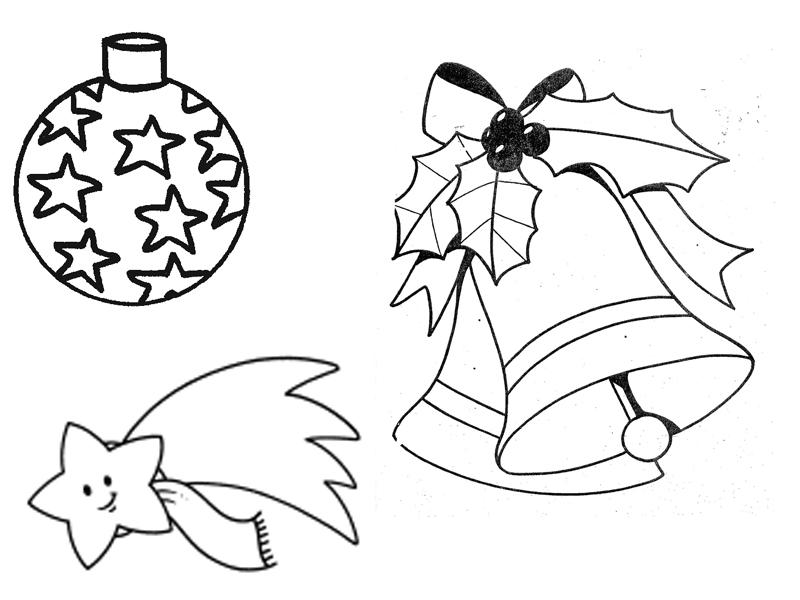 Extracole for Adornos navidenos para colorear y recortar